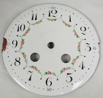 Antique French Enamelled Mantel clock Dial Clock Spare Striking Dial 9.7cm