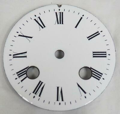 Antique French Enamelled Mantel clock Dial Clock Spare Striking Dial 8.2cm
