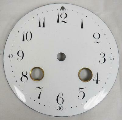 Antique French Enamelled Mantel clock Dial Clock Spare Striking Dial 9.3cm