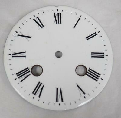 Antique French Enamelled Mantel clock Dial Clock Spare Striking Dial 9.5cm