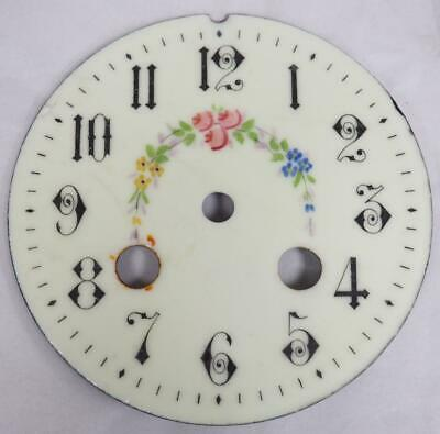 Antique French Enamelled Mantel clock Dial Clock Spare Striking Dial 10cm