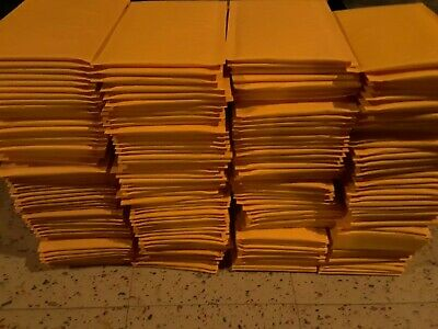 """Brand New #000 4""""×8"""" Kraft Yellow Bubble Padded Shipping Mailers Envelopes - 200"""