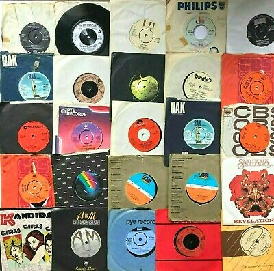 "Job Lot of 115 x 1970's Record Collection of 7"" Singles POP / ROCK / CHART"