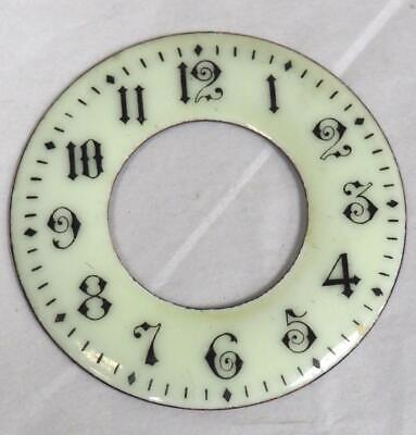 Antique French Enamelled Mantel clock Dial Enamelled Chaptering 6cm Diameter
