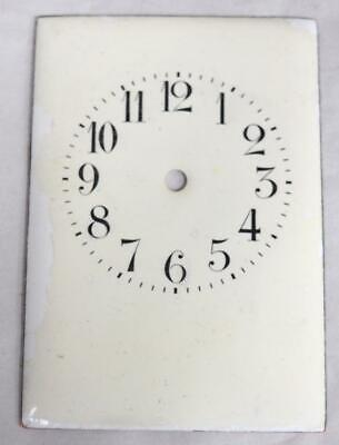 French Enamelled Carriage Clock Dial Clock Spares Clock Dial 8.5cm x 6cm
