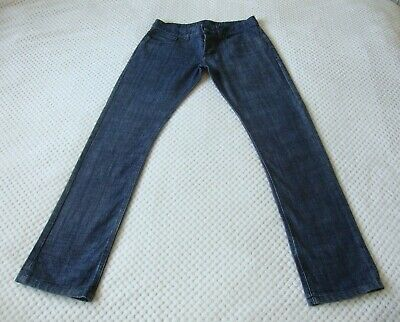 Boys 11-12 Years CRIMINAL Designer Blue & Gold Jeans W 27 L30 Straighht Leg VGC