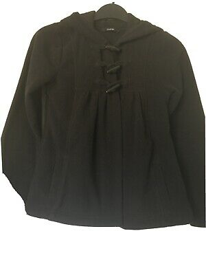 George Girls Black Fleece Jacket Age 10-11 Years