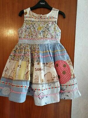 NEXT Rare Bumble Bee Lady Bird Pretty Summer Girls Dress Age 3-4 Years