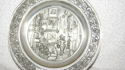 Vintage Postman Wall  Hanging Pewter Wall Plaque
