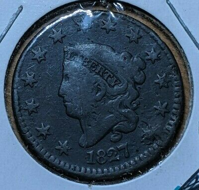 1827 Philadelphia US Copper Large Cent / Penny - US Coin- Coinage #4