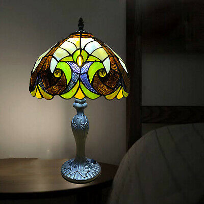 Antique Style Tiffany Table Desk Lamp Stained Glass Home Decor Bed/Living Room