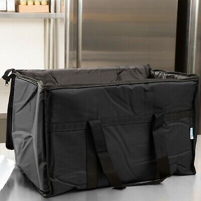 "Large Insulated Food Delivery Bag / Pan Carrier, Black Nylon,  23"" x 13"" x 15"""
