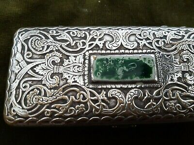 Antique renaissance style silver plated box