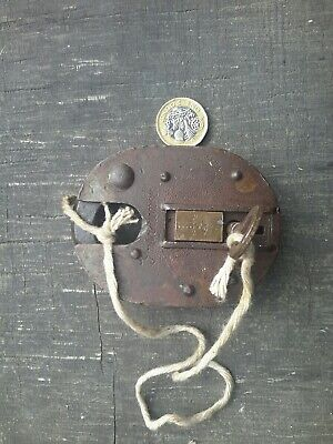 Antique Padlock lock vintage with key made in England