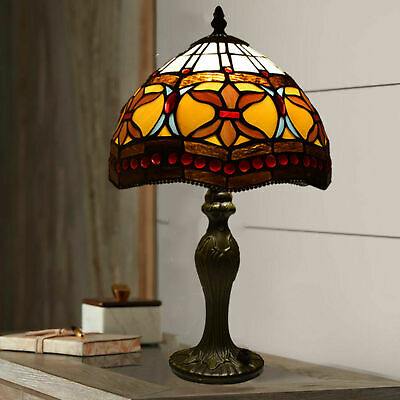 New Tiffany Style Stained Glass Dragonfly Table Desk Lamp Shade Home Decoration