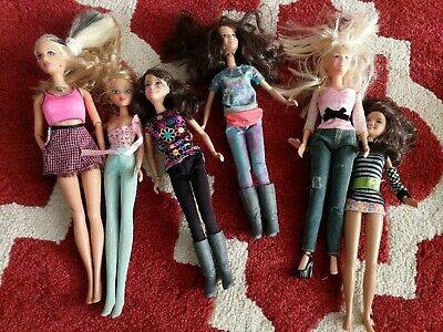 Stacy Barbie And Friends Doll Lot Of 6 Dressed Circa 2008