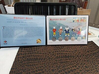 2020 The ULTIMATE Rupert Bear 50p Coin Cover 5 coins Limited Edition - No 97