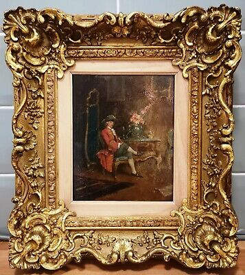 English/French School, Portrait of a Gent 18th/19thC Antique Signed Oil Painting