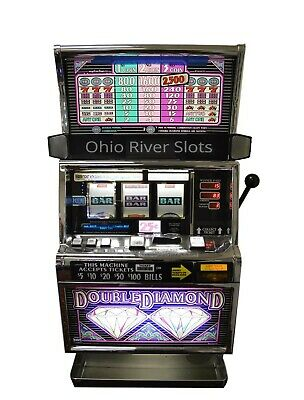 "IGT S2000 ""Double Diamond"" 3 REEL SLOT MACHINE (COINLESS) TICKET PRINTER"