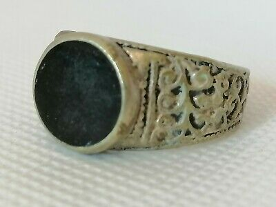 Very Rare Extremely Ancient Roman Ring Silver Color Artifact Authentic Amazing