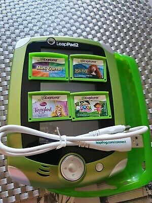 Leap pad 2 comes with four games in good used condition.