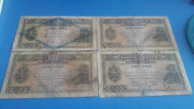 VERY CHEAP!!!!4 pieces 1939 syria and lebanon 5 livres lot