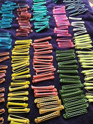 Large Collection Of Vintage Perm Rods / Curlers With Basket