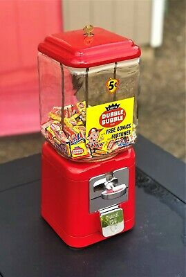 RARE Vintage Oak Acorn 5 Cent Fleer Dubble Bubble Bazooka Tab Gum Machine
