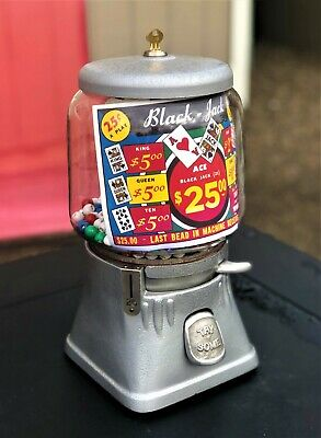 RARE 1950's Silver King Giant Ace 25 Cent Black Jack Gambling Vending Machine