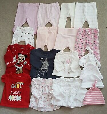 18 Baby Girls Clothing Items Size 0-3 Mths - Joblot 22