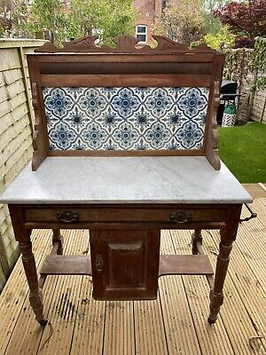 Marble Washstand Console Table