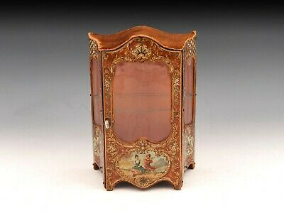 French Antique Display Dolls House Cabinet Sewing Collectable