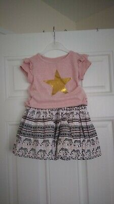 Girls Outfit Next Top And TU Elephant skirt 2-3 Years