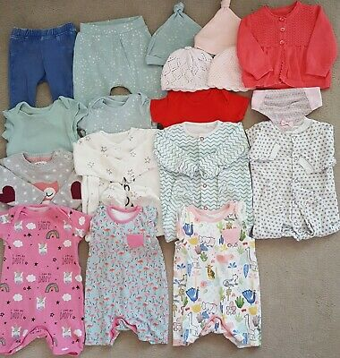 18 Baby Girls Clothing Items Size 0-3 Mths - Joblot 23