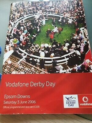 Epsom Derby Day 2006 Racecard w entrance badge SIR PERCY