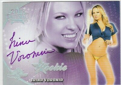Benchwarmer 2015 ~ Irina Voronina National Rookie Holo Purple Sp Autograph