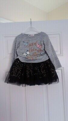 Girls Outfit H&M Top And TU Skirt 2-3 Years