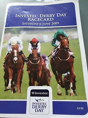 Epsom Derby Day 2009 Racecard SEA THE STARS