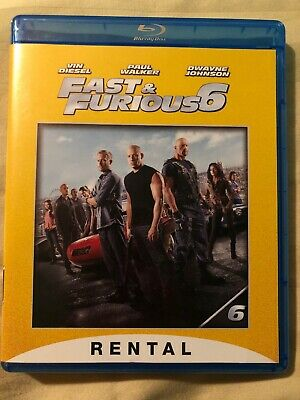 Fast & Furious 6 (Blu-ray) FORMER RENTAL, Paul Walker, Vin Diesel, Dwayne Johnso