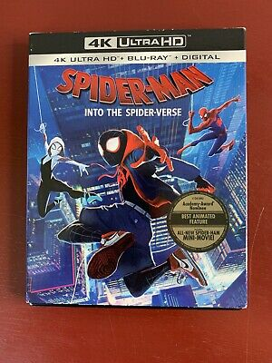 Spider-Man Into the Spider-Verse (4K/Blu-Ray/Digital) with Slipcase