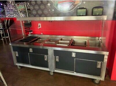 Buffet Salad Bar With Sneeze Guard Non-Refrigerated