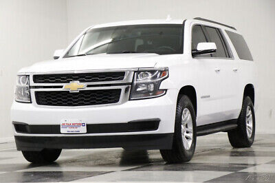 2018 Chevrolet Suburban 4X4 LS Camera 8 Passenger Summit White SUV 4WD Used Like New Third 3rd Row Bluetooth Remote Start Warranty 19 20 2019 18
