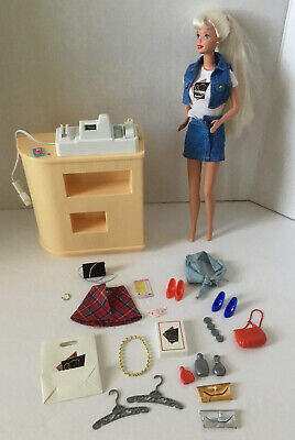 Vintage 1997 Mattel Cool Shoppin' Barbie Working Cash Register Doll & Acessories