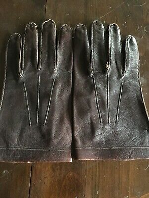 NEW Men's Leather Driving Gloves, Brown  ~ Sz: Medium.. Very Smooth