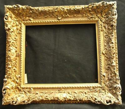 """LARGE 18th CENTURY CARVED ORIGINAL GILT Painting / Picture Frame TO FIT 18""""x15"""""""