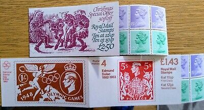 GB Stamps Booklets x 2 from 1982 (MINT & RARE) Christmas Special Offer + E Dulac