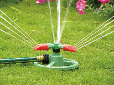 Rotary lawn sprinkler with adjustable end nozzle, Garden watering