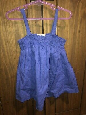 Mini Boden Girls Age 3-4 Years Blue Summer Tunic Flow Top