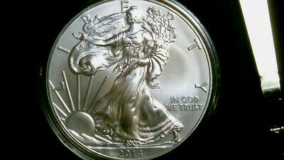 !oz BU American Eagle Silver Coin 2014 in holder (#1036) like pics