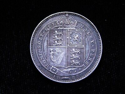 1888 Great Britain Silver Sixpence Queen Victoria Coin KM#757